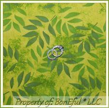BonEful Fabric FQ Cotton Quilt Green Asian Panda Bear Bamboo Leaf Palm Tree RARE