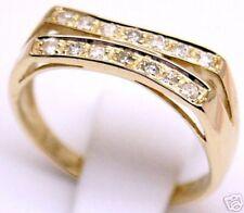 14k , 0.42 ctw Diamond Anniversary Ring Sz 7 & 7.25