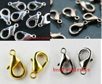 20pcs Silver Plated/Golden/Dark Silver/Copper Metal Lobster Claw Clasp 10/12mm