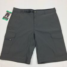 NEW BC Clothing Expedition Men's Stretch Cargo Short 38 Gray