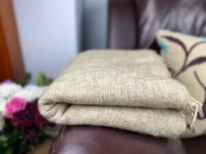 Yak Nepalese Blanket Soft Handmade Scarf Wrap Oversized Shawl Throw Dark natural