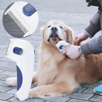 2 in 1 Electric Flea Comb Brush For Pets Cat Dog Lice Remover Anti Control Head