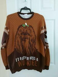 "Christmas Jumper Star Wars Numskull ""Rather Kiss A Wookie"" Star Wars Size XL"