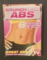 Crunchless Abs 6 - 10-Minute Workouts - 2 DVD Set - As Seen On TV - Brand New