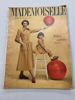 Vintage MADEMOISELLE Magazine Smart Young Women July 1949 Cover by LANDSHOFF