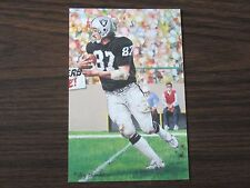 2002 Dave Casper Goal Line Art Card Oakland Raiders