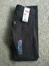 GIRLS NEW LEVI'S 505 JEANS STRAIGHT SIZE 14 REGULAR 27X27 GRAPHITE j5