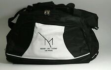 M RESORT SPA CASINO LAS VEGAS BLACK & WHITE DUFFEL SPORT BAG