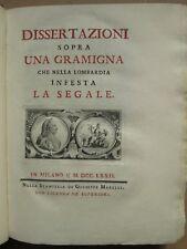 GRAMIGNA CHE NELLA LOMBARDIA INFESTA LA SEGALE, 1772. Planches