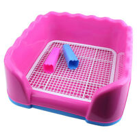 Pet Dog Cat Litter Boxes Tray With Filter Toilet Pad Poo & Pee Training Portable