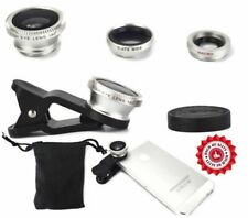 3 in1 Fish eye+Wide Angle+Macro Clip On Camera Lens Set iPhone Samsung Universal