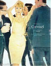 PUBLICITE ADVERTISING 106  1964  le pret à porter robe soie du Japon Cornuel