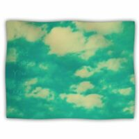 KESS InHouse Robin Dickinson I Love That You Love Me Green Blue Pet Dog Blanket,