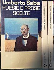(Letteratura/Poesia) UMBERTO SABA - POESIE E PROSE SCELTE - Mondadori 1976