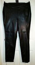 NEWLOOK BLACK PU Faux LEATHER TROUSERS Leggings L uk16eu42us10 Waist w36in w91cm