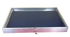 Aluminum Display Case Side Opening 22 x 34x31/4 Knives Cards Gun with BLUE LINER