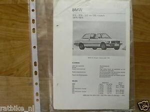 B11-BMW TYPEN 316, 318, 320 EN 320 I COACH 1975-1976-KL