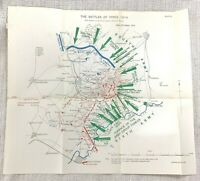 WW1 Military Map Battle Ypres France 29th October 1914 Sixth Army Troops Trench