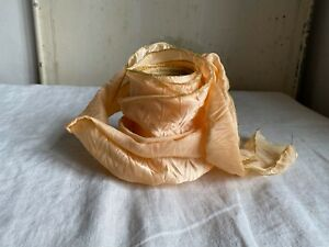 Vintage Wired Ribbon Pastel Peach Golden Tape Millinery & Bouquets NOS - 1m