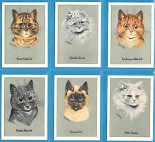 LOUIS WAIN PRIZEWINNERS COMPLETE SET OF SIX CAT CARDS BY CRYSTAL CAT CARDS