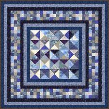 """INDIGO BLUES - 67""""- 7 colours - Quilt-Addicts Precut Quilt Kit Double size"""