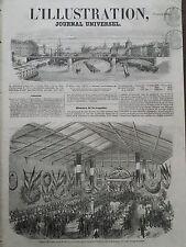 L'ILLUSTRATION 1856 N 672 BANQUET OFFERT DANS LA SALLE DES MANEGES, A VERSAILLES