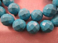 Magnesite Turquoise Faceted Round 19mm Beads 20pcs