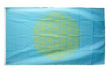 Fahne Blume des Lebens blau Flagge  Hissflagge 90x150cm