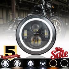 "DOT 7"" in LED Headlight Halo Angle Eyes For HarleyDavidson Street Glide Touring"