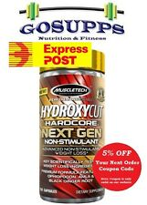 MuscleTech Hydroxycut Hardcore Next Gen Non-Stimulant 150 Caps Fat Burner Elite