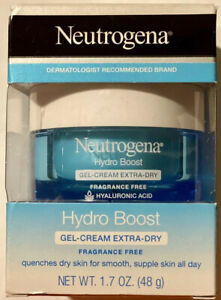 New! Neutrogena Hydro Boost Gel-Cream, Extra Dry Fragrance Free 1.7oz