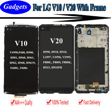 For LG V10 V20 LCD Display Screen Digitizer + Touch Screen Replacement w/ Frame