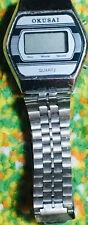 VINTAGE & RARE Okusai DIGITAL Wrist Watch Wristwatch Unisex Stainless, Hong Kong