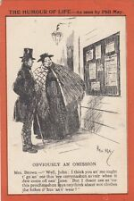 """COMIC :  """"Obviously an Omission-PHIL MAY -DAVIDSON BROS-FRINTON-ON-SEA-RSO"""