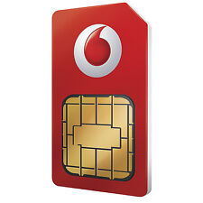 Vodafone Micro Sim Card For Apple iPhone 4 & iPhone 4S 5 5S 6 7 8 Pay As You Go