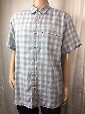 THE NORTH FACE MODAL BLEND baby blue PLAID button down POLO shirt . men's XL