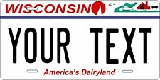 Wisconsin 2000 Tag License Plate Personalized Auto Car Custom VEHICLE OR MOPED