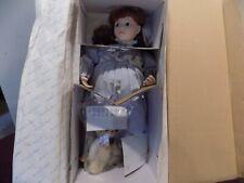 """Danbury Mint Adell by Jan Hagara 21"""" with Teddy Bear Porcelain Doll"""
