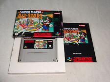 Super Mario Allstars Super Nintendo SNES juego completo con embalaje original y guía