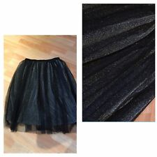 QUIZ SILVER/BLACK SPARKLY SKIRT..BALLERINA STYLE..BRAND NEW..SIZE 14..PARTY