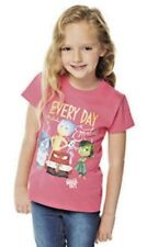 SIZE 3-4 YEARS NEW GIRLS DISNEY INSIDE OUT EMOTIONS PINK T-SHIRT 100%COTTON bnwt