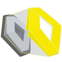 Renault Megane Mk2 Vinyl Wrap Overlay Badges Front Rear Covers Yellow
