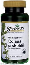 Coleus Forskohlii - HIGH 400mg x 60 Capsules, Forskolin - Weight Loss Fat Pills