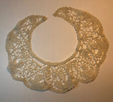 More details for antique lace collar french 1920s retro clothing collectable textile fabric old