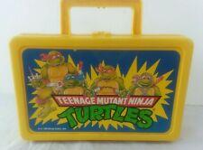 Vintage Teenage Mutant Ninja Turtles Yellow Pencil School Lunch Box  Mirage
