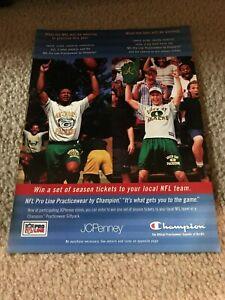 Vintage 1997 GREEN PACK PACKERS NFL APPAREL Poster Print Ad ANTONIO FREEMAN RARE