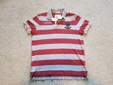 American Eagle Men's Vintage Fit Short Sleeve Orange Rugby Polo Shirt Sz L EUC