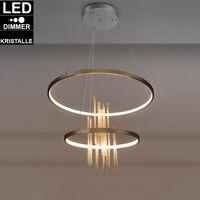 Luxus LED Wand Lampen Ess Zimmer Kristall Decken Leuchten Lese Strahler Gold