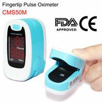 USA Fingertip Pulse Oximeter Blood Oxygen Saturation SPO2 PR HR Patient Monitor