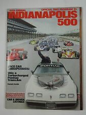 1980 Indianapolis 500 Program Johnny Rutherford Pontiac Firebird Trans Am